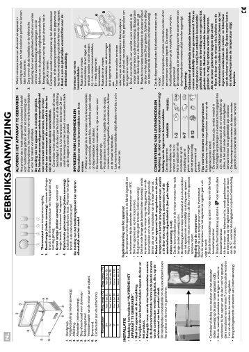 KitchenAid HF1220 B - Freezer - HF1220 B - Freezer NL (850790929010) Istruzioni per l'Uso