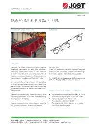 Trampolin®- flip-flow screen - JÖST GmbH + Co.KG