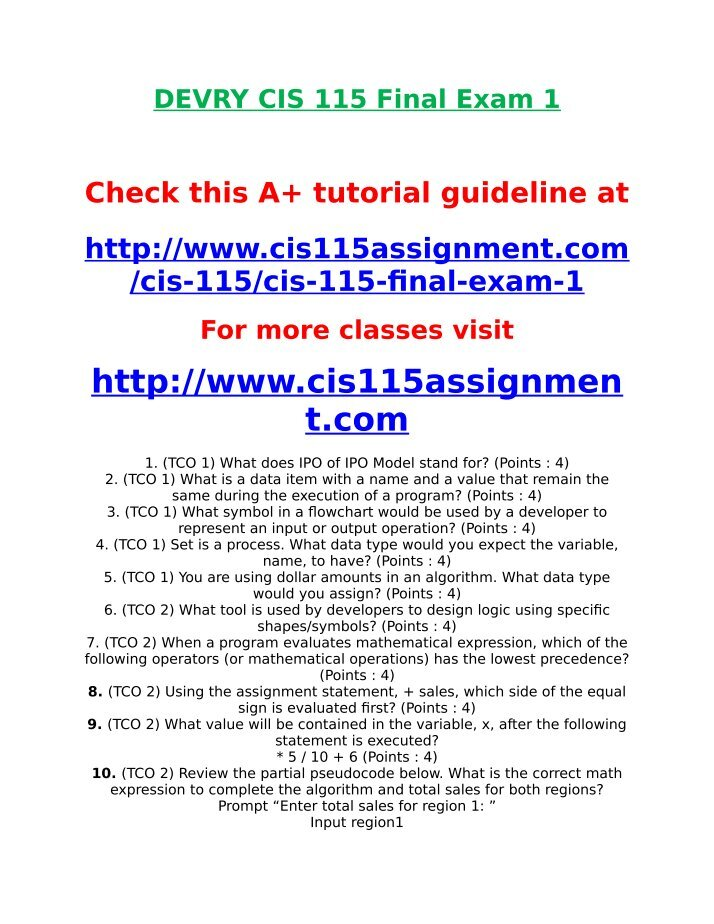 devry bsop 434 final exam Ac 492 final exam the specific audit objective that all purchases and cash disbursements made during the period were recorded relates.
