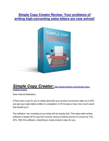 Simple Copy Creator review-(MEGA) $23,500 bonus of Simple Copy Creator