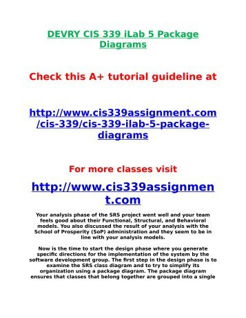 Devry cis 339 ilab 3 structural modeling class diagram and crcs ccuart Choice Image