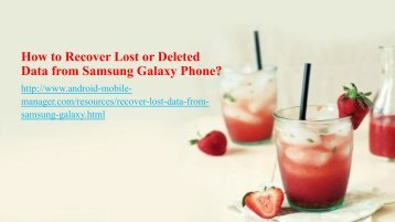 How to Recover Lost Data from Samsung Galaxy phone