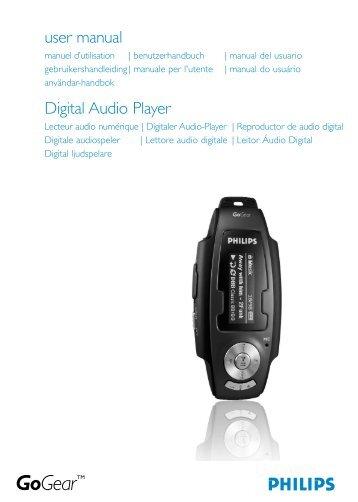 Philips GoGear Baladeur audio à mémoire flash - Mode d'emploi - SWE