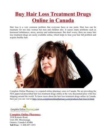 Buy Hair Loss Treatment Drugs Online in Canada