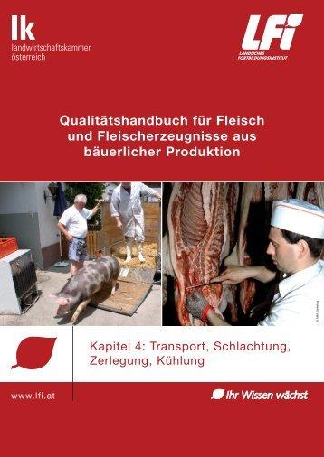 Transport, Schlachtung, Zerlegung, Kühlung - Wooly Pigs