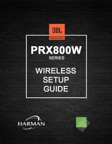 PRX800W - Wireless setup guide