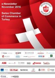 e-Newsletter November 2016 Swiss Chamber of Commerce in Turkey