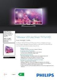 Philips 6000 series Téléviseur LED plat Smart TV Full HD - Fiche Produit - FRA