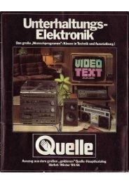 Quelle Katalog Technik von 1980