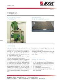 TrennTisch - JÖST GmbH + Co.KG