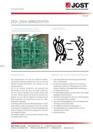 Zick-Zack-Windsichter. - JÖST GmbH + Co.KG