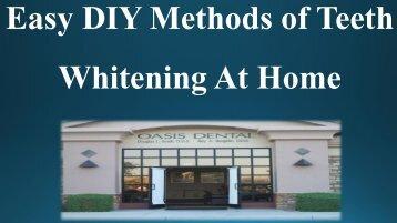 Easy DIY Methods of Teeth Whitening At Home