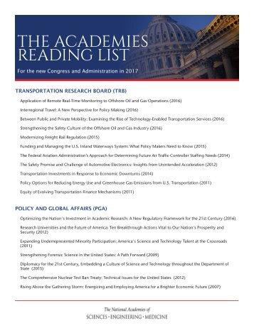 THE ACADEMIES READING LIST