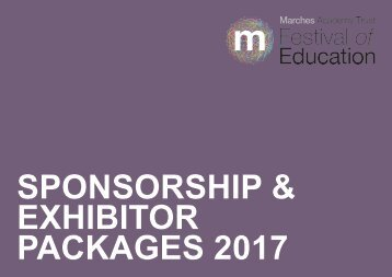 The Marches Festival of Education 2017 Sponsorship Package