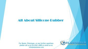 Verious Type of Silicone Rubber by Elastostar