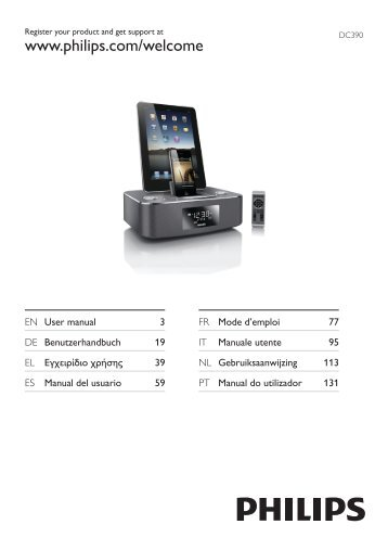 Philips Station d'accueil pour iPod/iPhone/iPad - Mode d'emploi - ENG