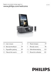 Philips Station d'accueil pour iPod/iPhone/iPad - Mode d'emploi - DEU