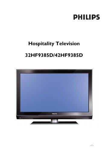 Philips Cineos Téléviseur LCD professionnel - Mode d'emploi - SWE