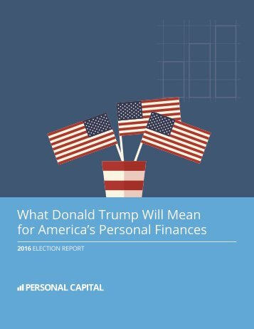 What Donald Trump Will Mean for America's Personal Finances