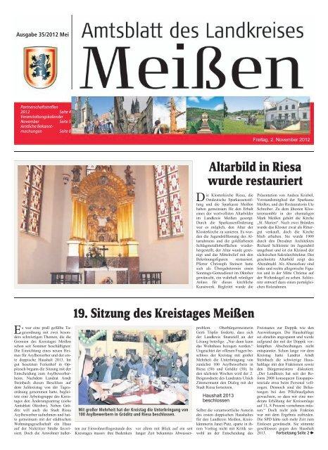 Altarbild in Riesa wurde restauriert 19. Sitzung ... - Landkreis Meißen