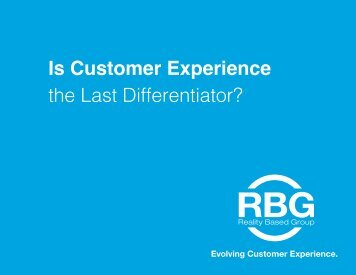 Is Customer Experience the Last Differentiator?