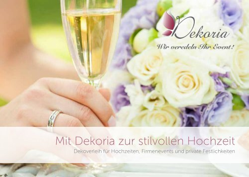Mit Dekoria zur stilvollen Hochzeit