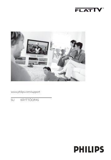 Philips Téléviseur à écran large - Mode d'emploi - FIN