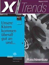 Trends Magazin 01/2012 Maschinenbau - Wirtschaft Regional epaper