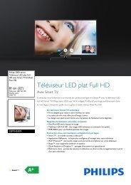 Philips 5000 series Téléviseur LED plat Full HD - Fiche Produit - FRA