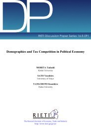 Demographics and Tax Competition in Political Economy
