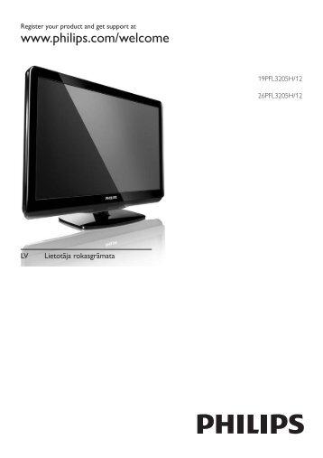 Philips Téléviseur LED - Mode d'emploi - LAV