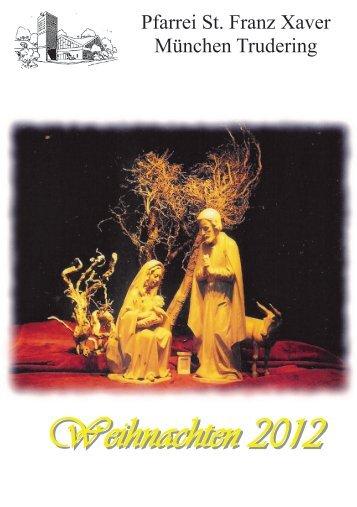 Pfarrbrief Weihnachten 2012 Trudering St Franz Xaver