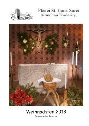 Pfarrbrief Weihnachten 2013 Trudering St Franz Xaver