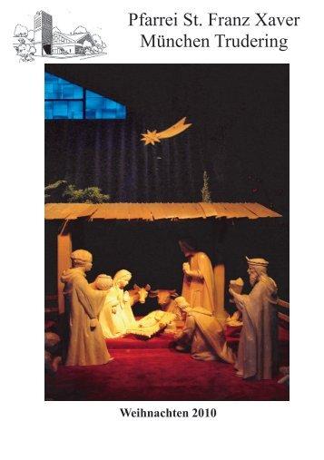 Pfarrbrief Weihnachten 2010 Trudering St Franz Xaver