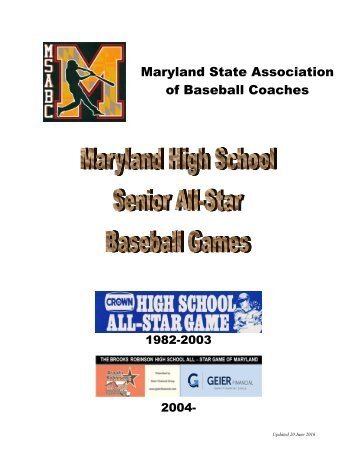 Maryland State Association of Baseball Coaches