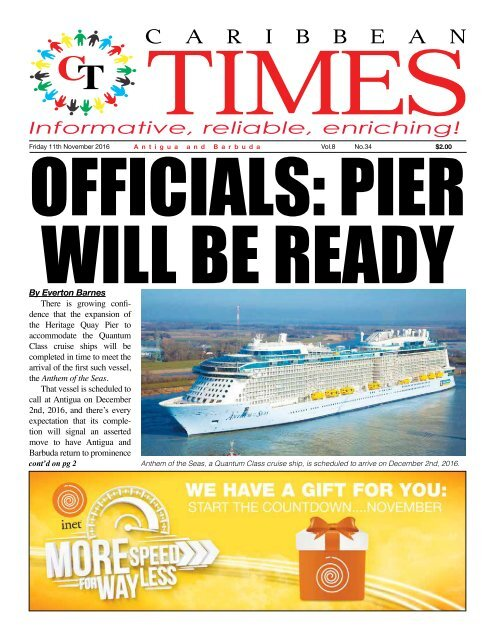 Caribbean Times 34th Issue - Friday 11th November 2016