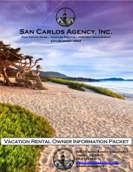 New Vacation Rental owner Packet