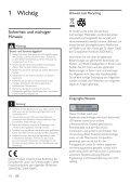 Philips Home Cinéma - Mode d'emploi - DEU - Page 2