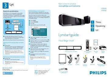Philips Home Cinéma - Guide de mise en route - NOR