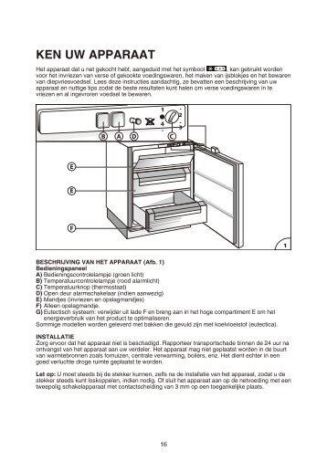 KitchenAid UGI 1041/A+ - Freezer - UGI 1041/A+ - Freezer NL (855395201300) Istruzioni per l'Uso