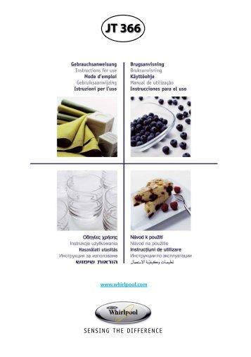 KitchenAid JT 366 BL - Microwave - JT 366 BL - Microwave FI (858736615490) Istruzioni per l'Uso