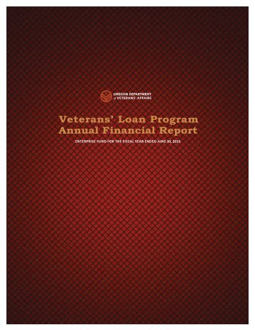 Veterans' Loan Program Annual Financial Report