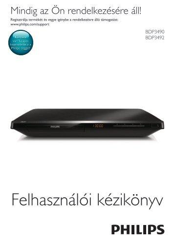 Philips 3000 series Lecteur Blu-ray / DVD - Mode d'emploi - HUN