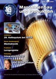 Heft 2008/2009 - Department Maschinenbau und Produktion - HAW ...