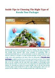 There are thousands of Kerala tour packages available on Flamingo Travels