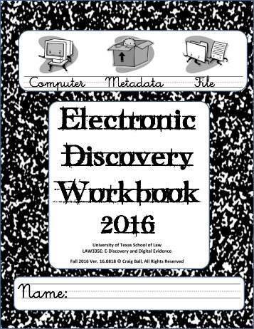 Discovery Workbook
