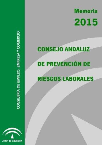 CONSEJO ANDALUZ DE PREVENCION DE RIESGOS LABORALES