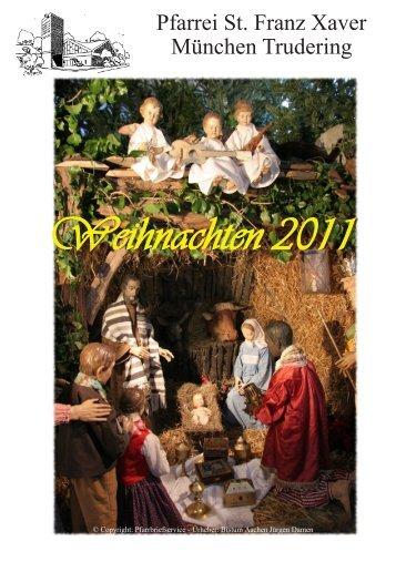 Pfarrbrief Weihnachten 2011 Trudering St Franz Xaver