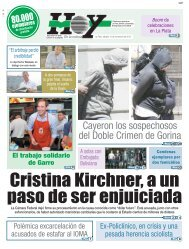 Cristina Kirchner a un paso de ser enjuiciada