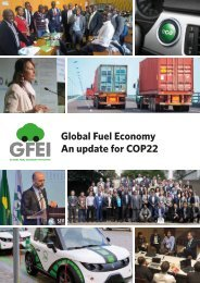 Global Fuel Economy An update for COP22